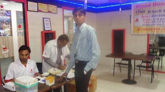 Blood Donation Camp At Gandhinagar Center