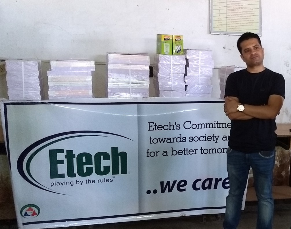Notebookonation 2017 @ Etech, Gandhinagar