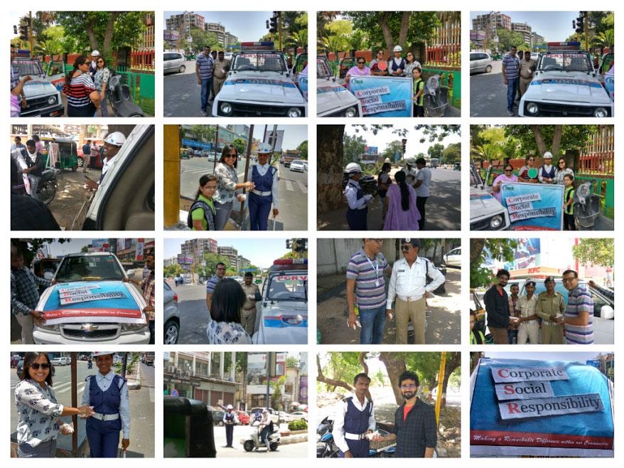Buttermilk Distribution – Traffic Police @ Etech, Vadodara