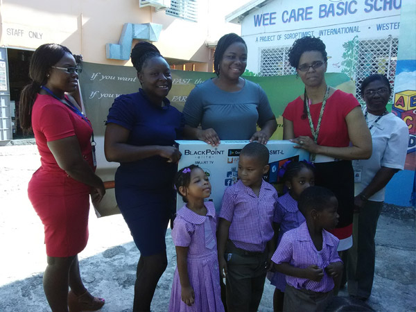 Etech Give Back Program – Donated a Television to a School at Montego Bay